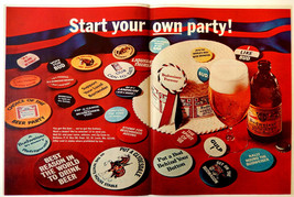 Vintage 1968 Budweiser political beer party advertisement print ad art - $12.64