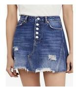 Size 26 Free People Womens Distressed Mini Denim Skirt Color: Harvey BNWTS - $35.63