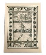Ex Libris Exlibris Bookplate Gladys William Sunday George Washington Button - $29.69