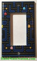 Pac-Man Pacman Games Light Switch Duplex Outlet wall Cover Plate Home Decor image 4