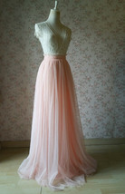 Pink Long Tulle Skirt Bridesmaid Tulle Skirt High Waisted Bridesmaid Outfit image 7