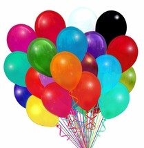 "72 Latex Balloons 12"" With Clips and Curling Ribbon - Assorted colors - ... - $18.76"