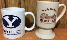 "Utah Mug Lot - BYU Student Alumni & Diamond Lil's ""Howdy Pardner"".  UT - $24.74"
