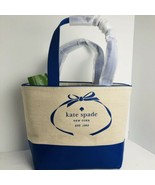 Kate Spade New York Tote Heritage Spade Logo Natural & Blue $198 Auth Ne... - $94.03