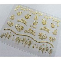 BANG STORE Nail Art 3D Decal Stickers Merry Christmas Winter Bells Snowflakes - $3.68