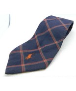 Polo by Ralph Lauren Navy Blue Red Green Plaid Pony Tie Hand Made in USA... - $39.59