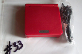 Nintendo GameBoy Advance SP Flame Red WITH CHARGER #33 NICE COND - $54.97