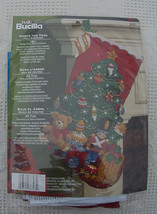 NEW Bucilla Under the Tree Christmas Stocking Kit #86303 - Bears Gifts Toys Tree - $34.95