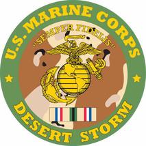 MARINE CORPS DESERT STORM EGA DECAL STICKER MADE IN USA - $16.24