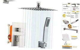 Shower System Brushed Nickel Wall Mounted High Brushed Nickel - 10 Inch - $234.96