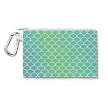 Mermaid Tail Canvas Zip Pouch - $15.99+