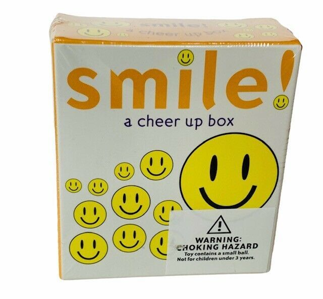 Smile Cheer Up Box Ariel Books Andrews McMeel Publishing smiley face stickers - $17.77