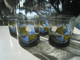 LAGUNA NIGUEL CA vintage modernist TENNIS CLUB highball bar glasses (qty... - $30.38