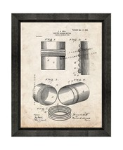 Can for Packing Butter Patent Print Old Look with Beveled Wood Frame - $24.95+