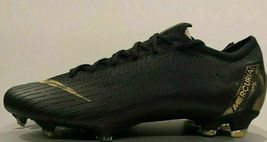 NIKE MERCURIAL VAPOR 12 ELITE FG BLACK/GOLD SIZE 11 BRAND NEW $250 (AH7380-077) image 10