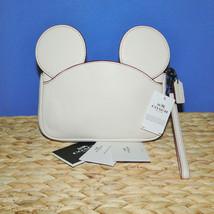 Coach X Disney Mickey Ears Leather Wristlet Ltd Edition Collection Chalk image 1