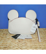 Coach X Disney Mickey Ears Leather Wristlet Ltd Edition Collection Chalk - $115.00