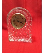 Waterford Crystal Large Gold Faced Dome Clock - $60.00