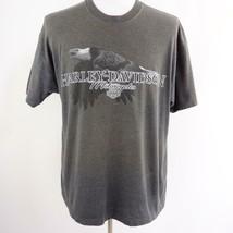 Harley Davidson Eagle Charleston SC Gray Graphic T Shirt Mens Sz XL USA - $26.99