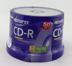 Memorex Music CD-R 50 Pk Pack Spindle 52X 700MB 80min Blank Cd New Sealed - $14.95
