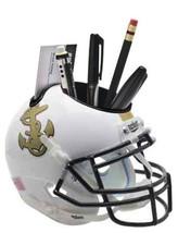 Navy Midshipmen White NCAA Football Schutt Mini Helmet Desk Caddy - $21.95