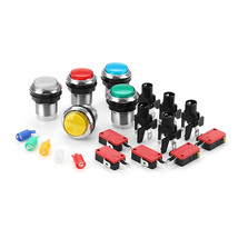 33MM Electroplated Red Blue Yellow White LED Push Button for Arcade Game... - $7.20