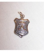 Sterling Silver Police Department Shield Badge Charm-1/2 inch tall, 5/8 ... - $7.50