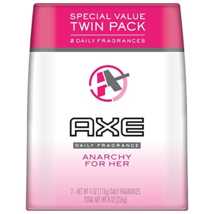 AXE Body Spray for Women, Anarchy For Her 4 oz, Twin Pack 2 Pack Set - $22.00