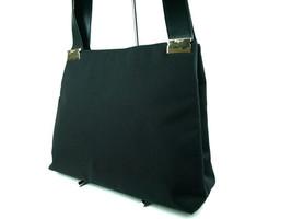 Authentic SALVATORE FERRAGAMO Canvas Leather Black Shoulder Bag SS0189 - $119.00