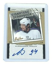2006-07 Upper Deck Bee Hive NHL Hockey Autographed Card by Alexander Frolov - $7.01