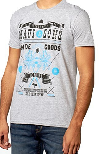 Maui & Sons No Kooks Tee Shirt (M, Sport Gray)