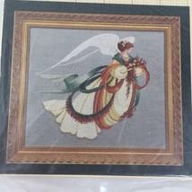 VNTG Lavender & Lace Victorian Design Angel Of Autumn Cross stitch chart... - $12.59
