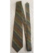 """Pierre Cardin Necktie Green Geometric Necktie Silk Tie 57.25"""" x 3.75"""" - $8.95"""