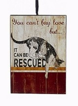 "KSA WOODEN PET RESCUE PLAQUE ORNAMENT ""YOU CAN'T BUY LOVE,BUT IT CAN BE ... - $4.88"