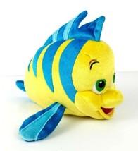 "Flounder The Little Mermaid Disney Store Plush 10"" Stuffed Blue Yellow Fish - $9.99"