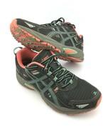 ASICS Women's GEL-Venture 5 Running Shoe Black Aqua Mint Flash Coral Sz 6.5 - $28.02