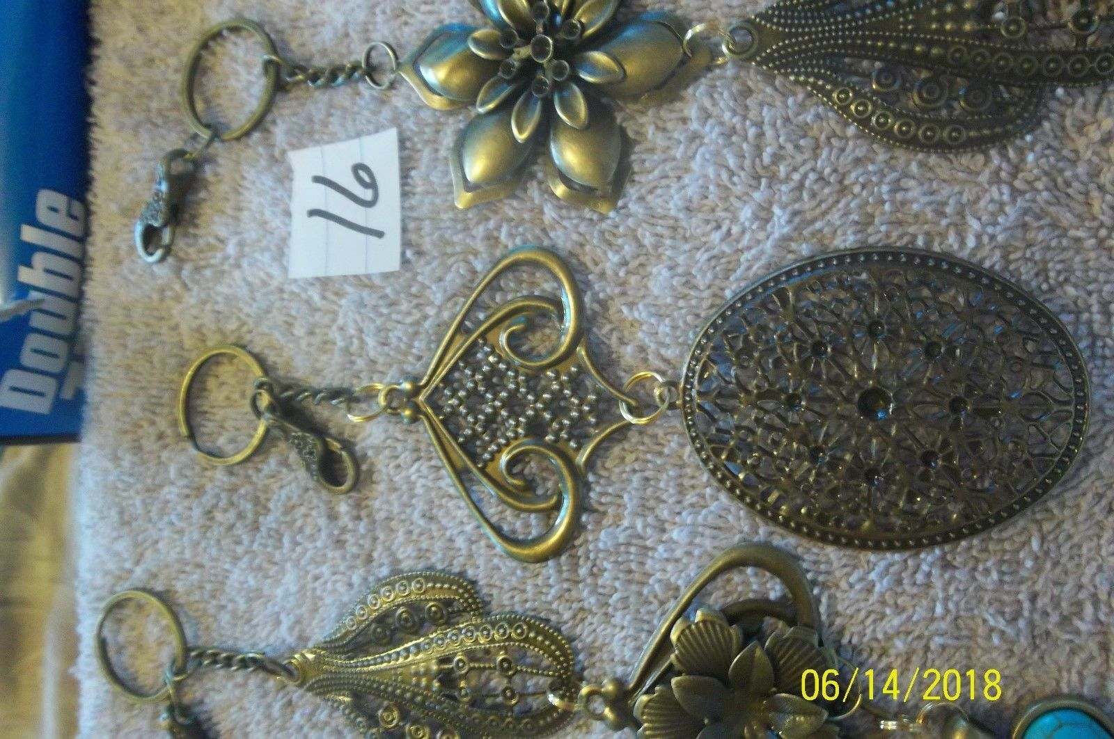 # purse jewelry bronze color keychain backpack  dangle charms #16 lot of 3 image 4