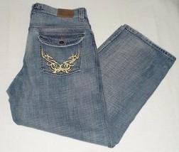 Jordan Craig Mens Loose Fit Distressed Denim Blue Jeans Size W 36 L 31 - $34.99