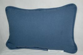 Manual Wookworkers Weavers TWSDAY Snow Days Small Blue Pillow image 3