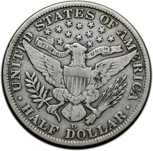 1912D Silver Barber Half Dollar Coin Lot A 357 image 2