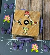 Stampcraft Beverages Rubber Stamp Cube 440L01 Tropical Drinks Glasses Wood #J32 - $4.70