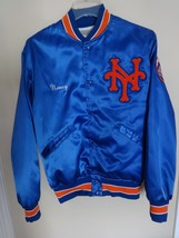 Vintage Felco New York Mets MLB Snap Front Satin Lined Coat Men M Sewn U... - $67.32