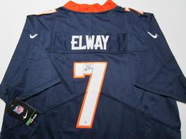 JOHN ELWAY / NFL HALL OF FAME / AUTOGRAPHED BRONCOS BLUE PRO STYLE JERSEY / COA image 1