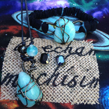 Amazonite Necklace, Bracelet, and Earring Set - Natural Handmade Gems Gi... - $65.00