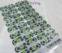 Jamberry Fields Of Clover 0317 85A5 Nail Wrap Full Sheet - $13.45
