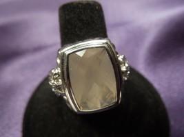 Vintage Judith Ripka Faceted Rose Quartz & Diamonique Sterling Ring, Size 8 - $148.50