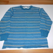 Boy's Size Small 6-7 Gap Kids Long Sleeve Striped Teal Brown Winter Shirt EUC - $12.00
