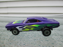Matchbox, Vintage Orange Peel, Purple with Flames, Funny Car, issued 1997 - $10.00