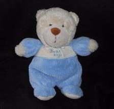 "9"" Carter's Bear Hugs Baby Blue Teddy Bear Rattle Stuffed Animal Plush Toy Soft - $28.05"