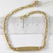 Armband Gelbgold 750 18K, Bordstein Und Ovale, Platte FÜr Gravur, 18 Cm - $348.87